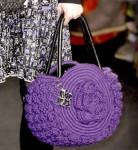 Вязаная сумка с розой