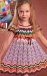 Детское платье с узором