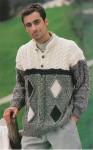 Пуловер с цветными ромбами