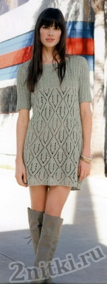 Платье-туника с ажурным узором