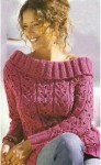 Пуловер «Современная кармен»