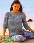 "Женский пуловер ""Краски моря"""