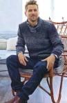 Мужской пуловер в серых тонах