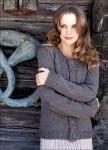 Жакет серо-коричневого цвета на пуговицах