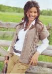 Толстый жилет цвета карамели с полосами узоров