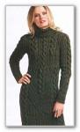 Связать платье спицами с косами облегающее с описанием на 44-46размер