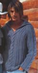 Вязаный пуловер с воротником апаш