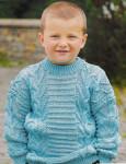 Джемпер для мальчика бирюзового цвета