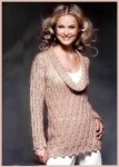 Длинный ажурный пуловер