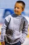 Вязаный свитер юному джентельмену