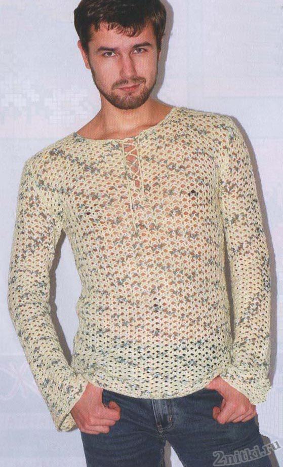 Мужской легкий пуловер