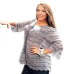 Серый жакет вязание спицами