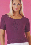 Фиолетовая кофта с бусинами