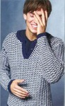 Мужской пуловер с воротом поло