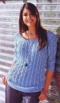 Пуловер ажурным узором с косами