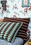 Чехлы на подушки вязаные спицами