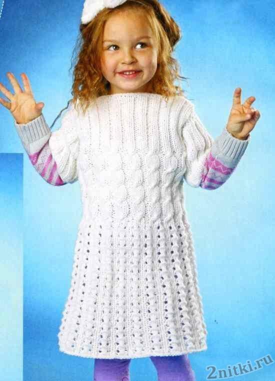 Платье с коротким рукавом для девочки