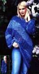 Асимметричный пуловер спицами