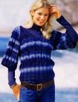 Пуловер с косами из пряжи секционного окрашивания