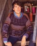 Цветной пуловер с норвежским узором