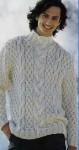 Свитер с крупным рельефным узором
