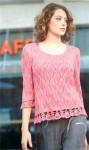 Ажурный пуловер с кружевными планками