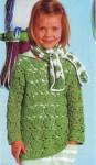 Ажурный пуловер и шарфик крючком