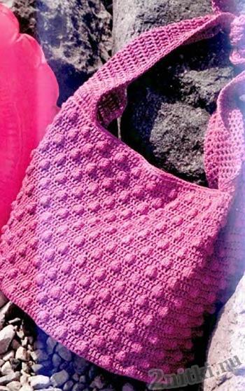 Пляжная сумка узором из узелков