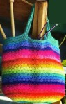 Радужная сумка крючком