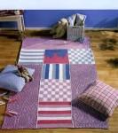 Вязаный коврик в детскую комнату