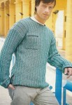 Мужской пуловер с карманом