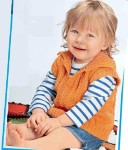 Безрукавка для малыша с застежкой поло