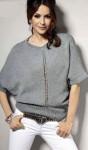Пуловер О-образного силуэта