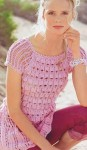 Розовая туника ажурным узором