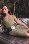 Стильное платье ажурным узором