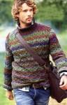 Мужской пуловер в осенних тонах