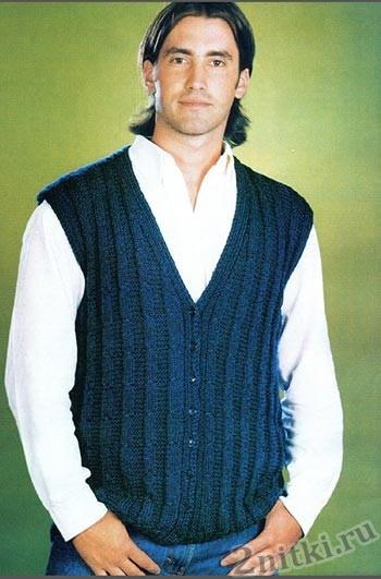 фото мужской вязаный жилет