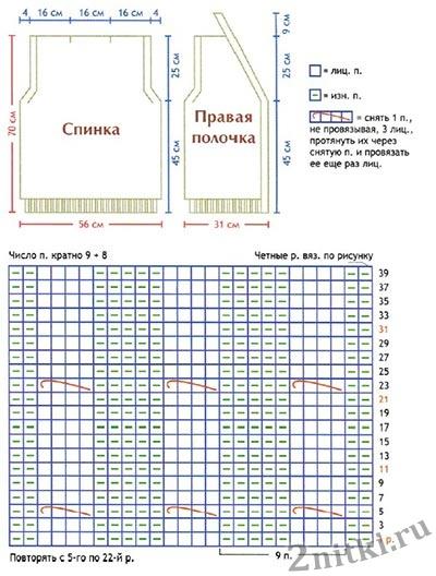 Muzhskoy-zhilet-vyazanyiy-spitsami-na-pugovitsah-shema-vyazaniya-i-vyikroyka