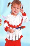 Двухцветная туника для девочки