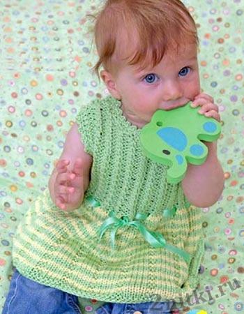 Платье с коротким рукавом для малышки