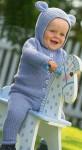 Комплект для малыша: кофточка с ушками и штанишки
