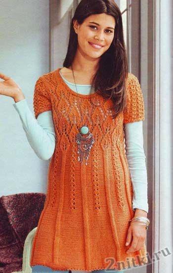 Мини-платье узором листики