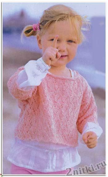 Легкий пуловер для девочки