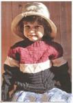 Трехцветный детский пуловер