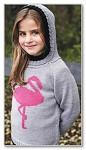 Пуловер «Розовый фламинго»