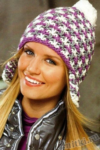 Модная цветная шапка