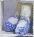 Пинетки-носочки с застежкой