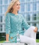 Пуловер бирюзового цвета