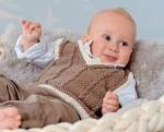 Коричневый жилет для малыша