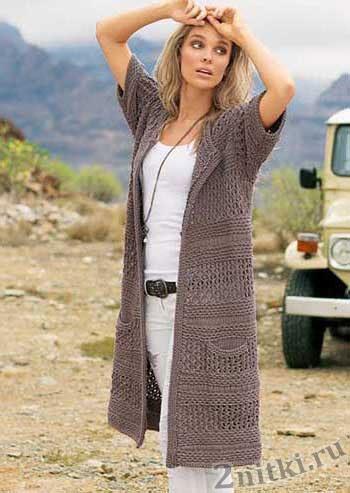 Женские пуловеры и свитера крючком и спицами